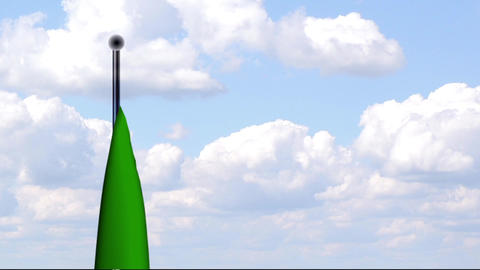 Animated Flag of Zambia / Sambia Stock Video Footage
