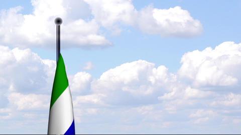 Animated Flag of Sierra Leone Stock Video Footage