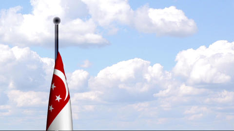 Animated Flag of Singapore / Singapur Stock Video Footage
