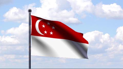 Animated Flag of Singapore / Singapur Animation