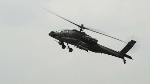Apache AH 64 Helicopter moving his gun 10968 Live Action