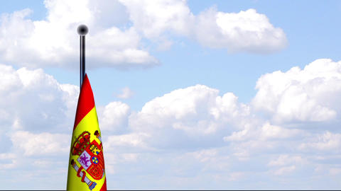 Animated Flag of Spain / Spanien Stock Video Footage