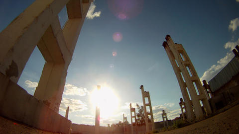Ruins of building Time Lapse Footage