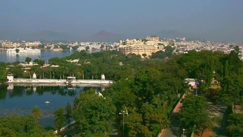 Udaipur panorama Stock Video Footage
