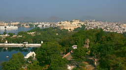 Udaipur panorama Stock Video Footage