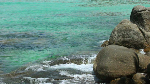 Rocky shore Stock Video Footage