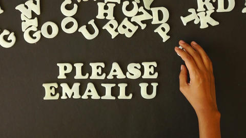 Please Email Us Stock Video Footage