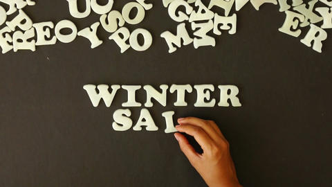 Winter Sale Stock Video Footage