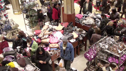 Christmas Shopping 2 Stock Video Footage