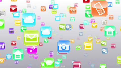 Smart Phone apps S Fb 1w 1 HD Stock Video Footage