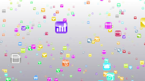 Smart Phone apps S Km 1w 1 HD Stock Video Footage