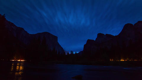 Night to Day TIme Lapse of Yosemite Valley Stock Video Footage
