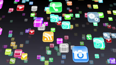 Smart Phone apps S Mb 1b 1 HD Stock Video Footage