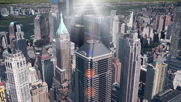 aerial view of New york & sunlight,spectacular city... Stock Video Footage