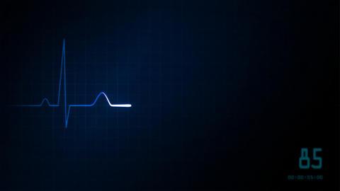 EKG monitor blue graphic Animation