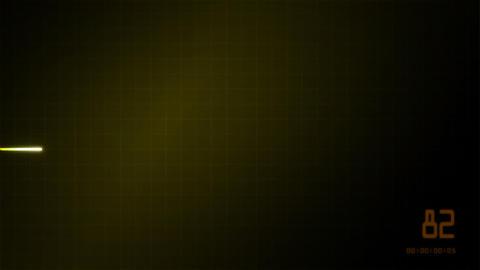heart on an EKG monitor yellow Stock Video Footage