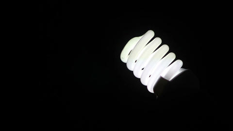 Energy Saving Light Bulb 2 stock footage