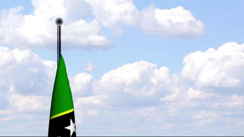Animated Flag of St. Kitts and Nevis Stock Video Footage