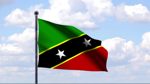Animated Flag of St. Kitts and Nevis Animation