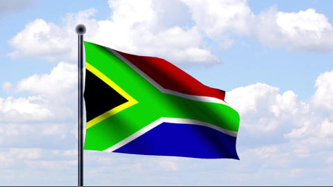 Animated Flag of South Africa / Südafrika Animation