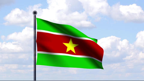 Animated Flag of Suriname / Animierte Flagge von S Animation