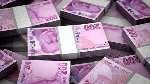 Billion Turkish Lira Stock Video Footage