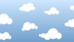 Clouds In Heaven Cartoon Loop stock footage