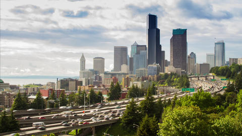 Afternoon Freeway Traffic Time Lapse Stock Video Footage