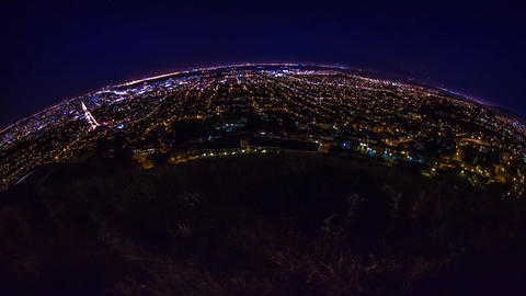 Time Lapse Fish eye view of San Francisco Stock Video Footage