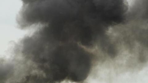 WAR SCENE F 16 attack explosion hard turn 10984 Stock Video Footage