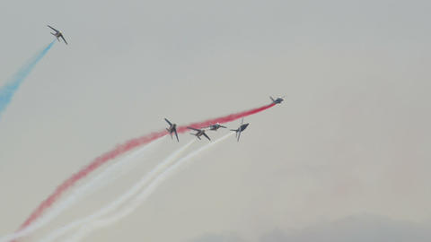 Patrouille France crazy formation 10990 Stock Video Footage