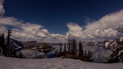 Cloudy Afternoon at Crater Lake Footage