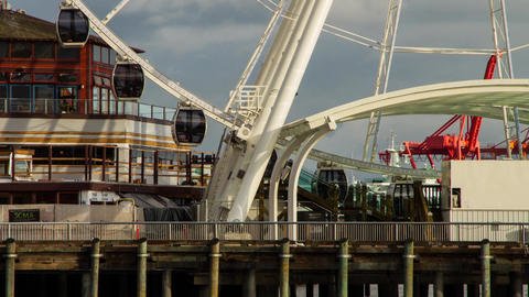 Close Up of Ferris Wheel Entrance Stock Video Footage