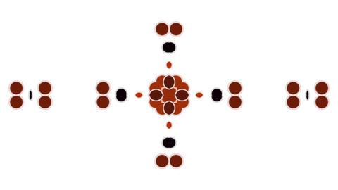 dots shaped flower pattern Stock Video Footage