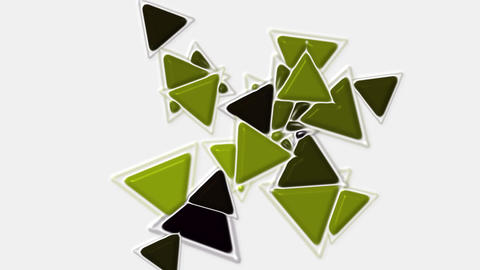 green plastic triangles card mosaics flying,abstract math geometry Animation