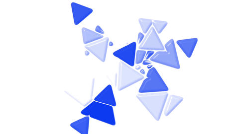 blue plastic triangles card mosaics flying,abstract math geometry Animation