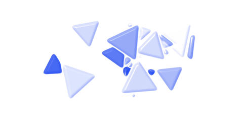 blue plastic triangles card mosaics flying,abstract math... Stock Video Footage