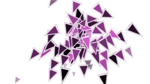 purple plastic triangles card mosaics flying,abstract math geometry Animation