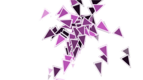 purple plastic triangles card mosaics flying,abstract... Stock Video Footage