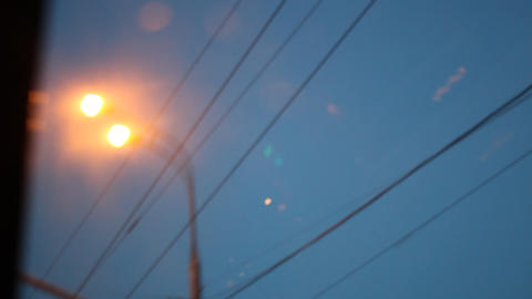 road lamps 4 Stock Video Footage