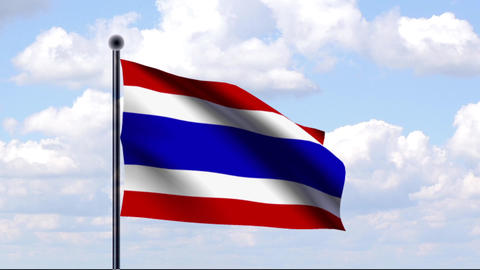 Animated Flag of Thailand Animation