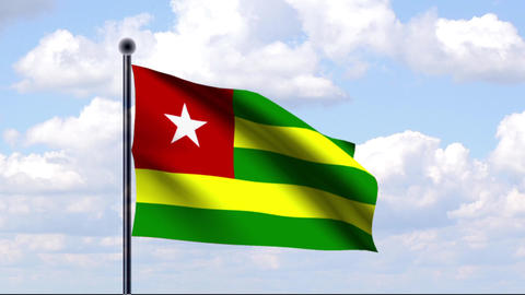 Animated Flag of Togo / Animierte Flagge von Togo Animation