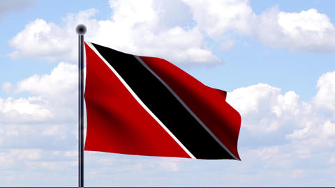 Animated Flag of Trinidad and Tobago Stock Video Footage