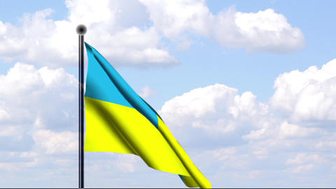 Animated Flag of Ukraine Stock Video Footage
