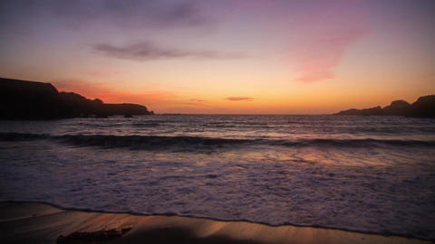 Sunset Clouds above Pacific Ocean Stock Video Footage