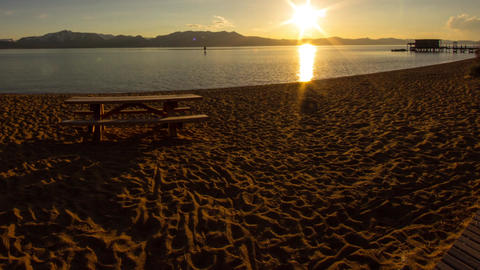 Sunset at Lake Tahoe Stock Video Footage