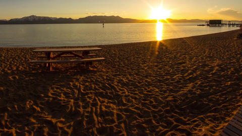 Sunset at Lake Tahoe Footage