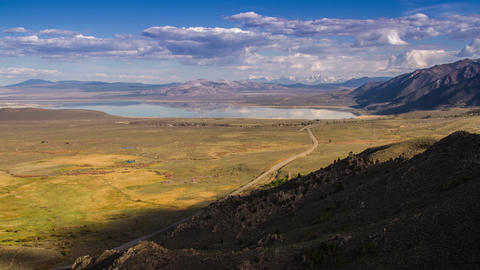 Shadow of Clouds Formation over Mono Lake Stock Video Footage
