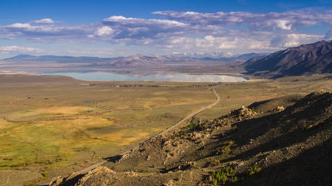 Shadow of Clouds Formation over Mono Lake Footage