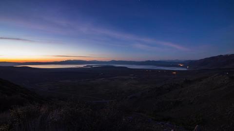 Sunrise over Mono Lake Stock Video Footage